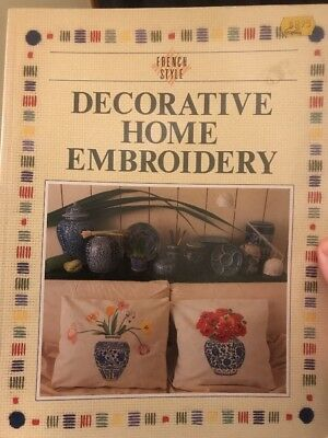 craft book - DECORATIVE HOME EMBROIDERY - from tablecloths to bedlinen etc...