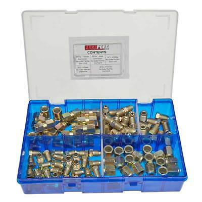 Pearl PAT29 Assorted Brake Pipe Unions 100 Pieces Metric Zinc Plated Male Female