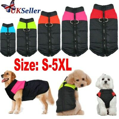 7 Size Waterproof Windbreaker Pet Dog Clothes Winter Warm Coat Vest Jacket Gift