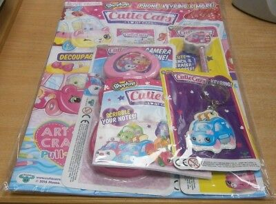 Love From magazine #54 Shopkins Cutie Cars + Keyring notebook pencil eraser