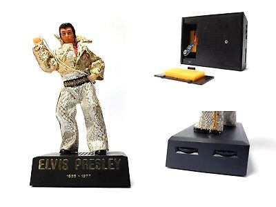 Vintage 1970s  Elvis Presley Doll Commemorative Souvenir Transistor AM RADIO