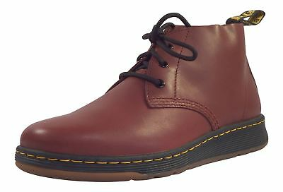 Dr Martens Colton Cherry Red Premium Temperley Leather Chukka 3 Eye Boots