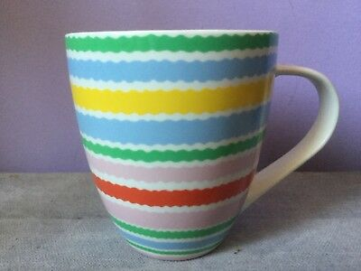 CATH KIDSTON Exclusively by QUEENS Large STRIPED WAVY BANDED Breakfast MUG