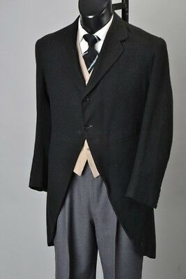 Gentleman's Edwardian Bespoke Tailored Morning Dress Wedding Tailcoat. Ref GXK