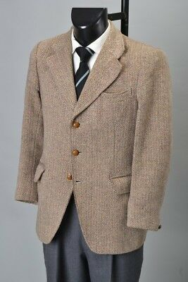 Country Gentleman's 1960s' Well Weathered Harris Tweed Sports Jacket. Ref GYB