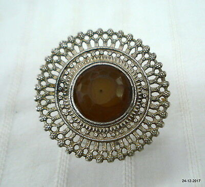 ancient vintage ring antique tribal old silver ring gypsy hippie jewelry