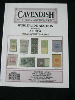 CAVENDISH AUCTION CATALOGUE 2003 WORLDWIDE with AFRICA