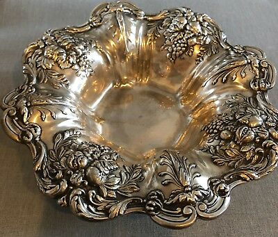 """Vintage antique rare 8"""" Sterling Silver Bowl #X569 """"Francis 1"""" by Reed & Barton"""