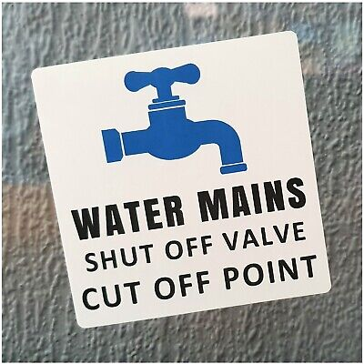1 x Water Mains Shut Off Valve,Liquid,Tap,Plumbing,Tank,Boiler,Copper,Pipe,Lever