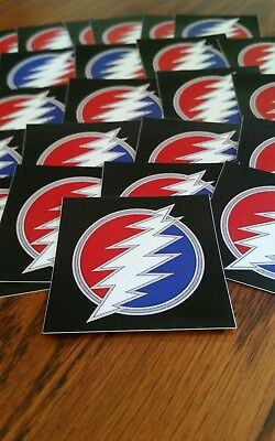 50 Dead And Company 13pt Bolt Stickers. Grateful Dead.