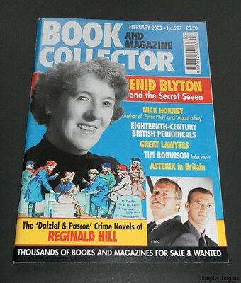 Book and Magazine Collector-February 2003-No.227-Blyton-Hornby-Asterix-V.Good