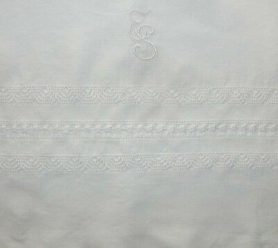 Child's Crib Size Antique French Linen ES Mono Duvet Comforter Cover MS03