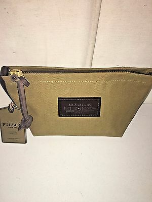 New With Tags Filson Made In Usa Limited Leather & Twill Travel Kit Small