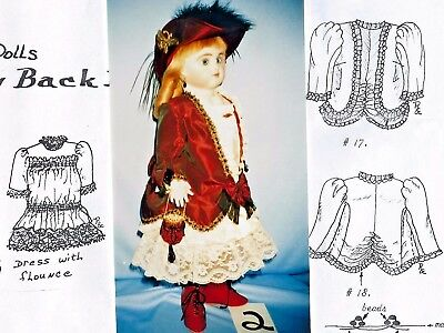 "21-22""antique German Doll Dress Jacket Undies Shoes Hat Purse Pattern French"