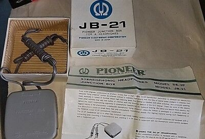 New Pioneer Jb-21 Junction Box For Se-50 Headphones And More