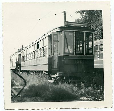 5D900B Rp 1951 Montreal Tramways Street Car #1291 Youville Yard