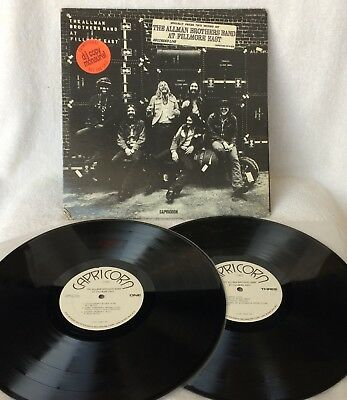 "Allman Brothers Band ""at Fillmore East"" Mega-Rare Original U.s Mono Wlp Promo!!!"
