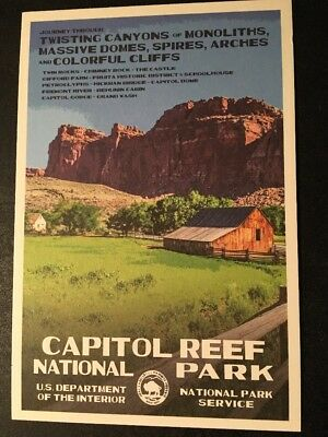 Capitol Reef National Park WPA Style Postcard