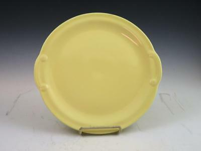 "Luray Pastels 11"" Round Yellow Cake Serving Plate Platter Handles"