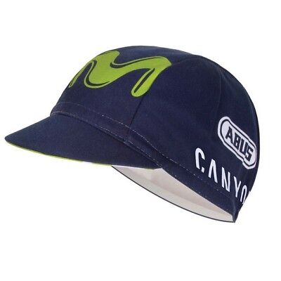 MOVISTAR PRO CYCLING TEAM BIKE CYCLE HAT CAP By Endura -  Made in Italy