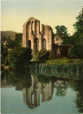 P.Z. Angleterre, Valle Crucis Abbey, East end Vintage photochrome, England pho
