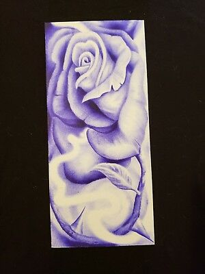 Original Prison Art By Artist-Beautiful Rose Painted With Ink Blown Out Of A Pen