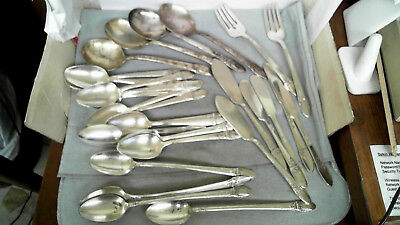 """Lot of 29 Various Pieces 1847 Rogers Bros Silverplate Flatware """"First Love"""""""