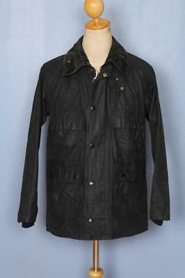 Mens BARBOUR Bedale Waxed Jacket Navy Size 36