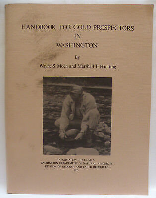 Vintage 1975 Handbook for Gold Prospectors in Washington State