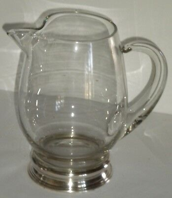 Sterling Base Martini Pitcher Marked W Crown Lion Silver Mark