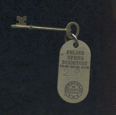 Poland Spring Dormitory ME Rm.29 Skeleton Key/Women's Job Corps Facility 1960's