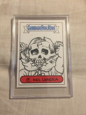 2014 GPK Bony Tony Unzipped Zack Neil Camera Sketch Card Garbage Pail Kids
