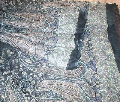 PURE CHIFFON Antique Vintage Sari Saree Fabric REUSE 4y Grey #,APVE