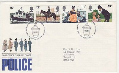 GB Stamps First Day Cover 150th anniv. of Metropolitan Police  SHS Lantern 1979