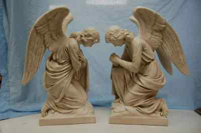 """+ Beautiful pair of traditional Kneeling Angels + 28"""" ht. Statues + Chalice co."""