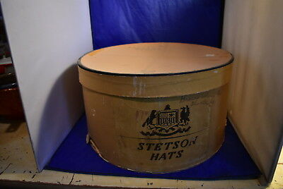 Antique Oval Stetson Hats Hat Box (No Hat included)