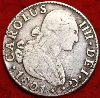 1801 Mexico 2 Reales Silver Foreign Coin