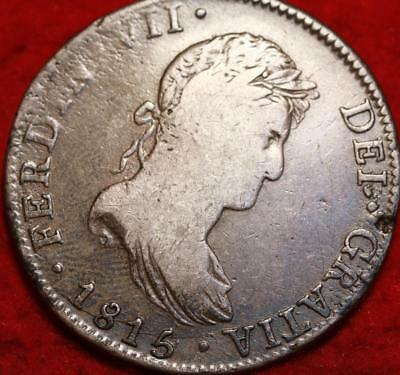 1815 Mexico 8 Reales Silver Foreign Coin