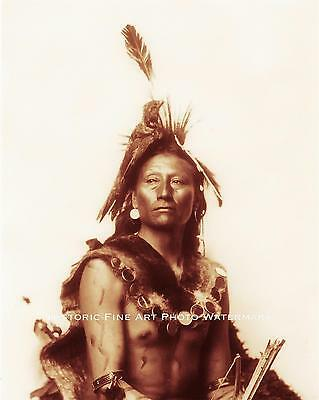 SIOUX INDIAN WARRIOR CLEAR VINTAGE PHOTO NATIVE AMERICAN 1898 8x10 #21809
