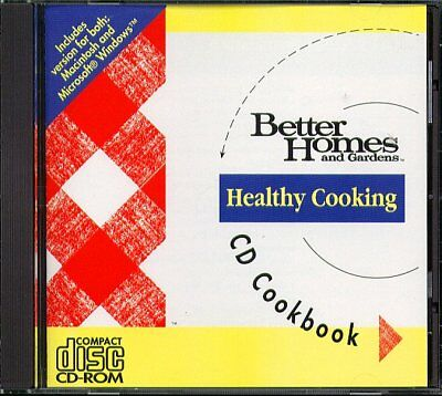 BH&G Healthy Cooking CD-ROM for Win/Mac - New Sealed JC