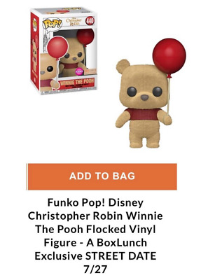 Funko Pop! Flocked Winnie The Pooh Disney #440 Boxlunch Exclusive * Preorder *