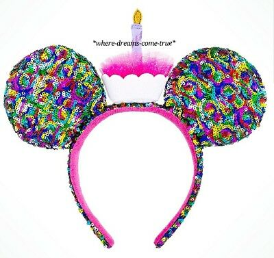 Disney Parks Mickey Mouse Birthday Ear Headband NEW