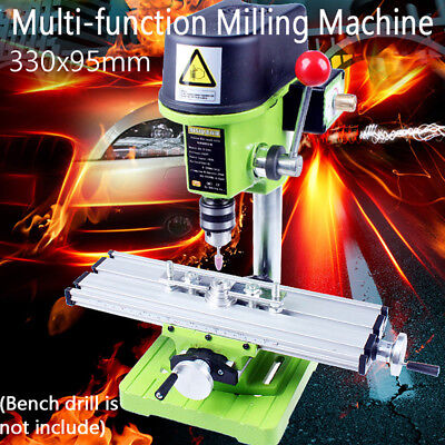 Mini Precision Multifunction Milling Machine Bench Drill Vise Fixture Work table
