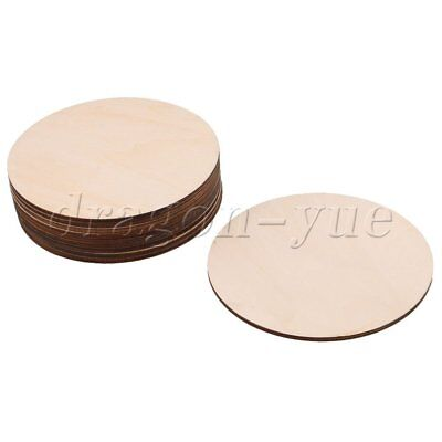 10Piece 100x3MM Unfinished Round Circles Cutouts Wooden Ornament Crafts