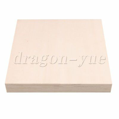 5 Pieces Square Basswood Blank Board for DIY Model Making & Crafts 20cm