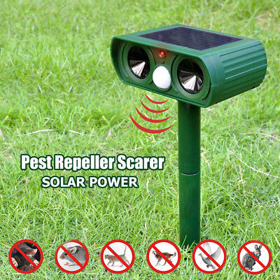 Solaire Dual ultra sonic jardin dissuasif répulsif chat fox Animal contrôle