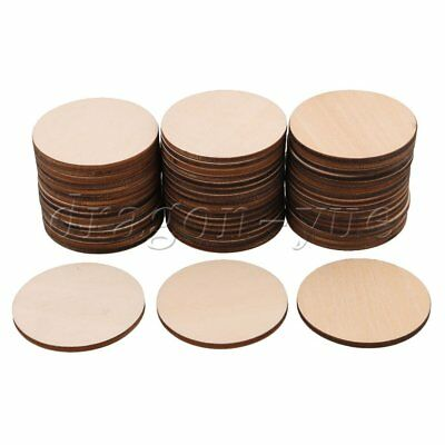 50Piece 50x3MM Unfinished Round Circles Cutouts Wooden Ornament Crafts