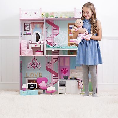 "NEW Sindy 2 Storey Doll's House for Dolls 18"" & Under (Pink)"