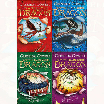 Cressida Cowell Collection How To Train Your Dragon Pirate 4 Books Set NEW