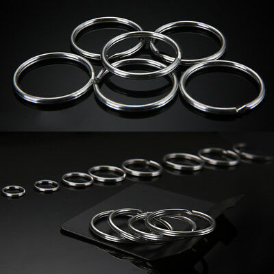 10-200PCS Silver Key Rings Chains Split Ring Hoop DIY Loop Keyfob Metal Acces